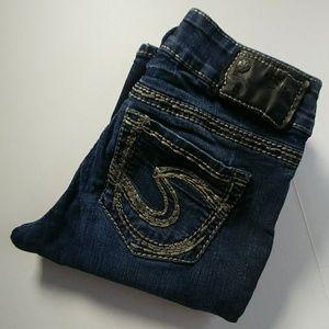 Silver Suki jeans size 25 dark wash 32 long